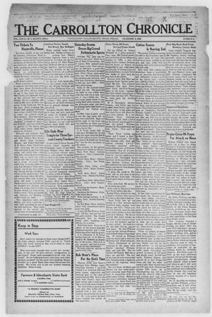 Primary view of The Carrollton Chronicle (Carrollton, Tex.), Vol. 32, No. 4, Ed. 1 Friday, December 6, 1935