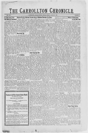 Primary view of object titled 'The Carrollton Chronicle (Carrollton, Tex.), Vol. 25, No. 19, Ed. 1 Friday, March 29, 1929'.
