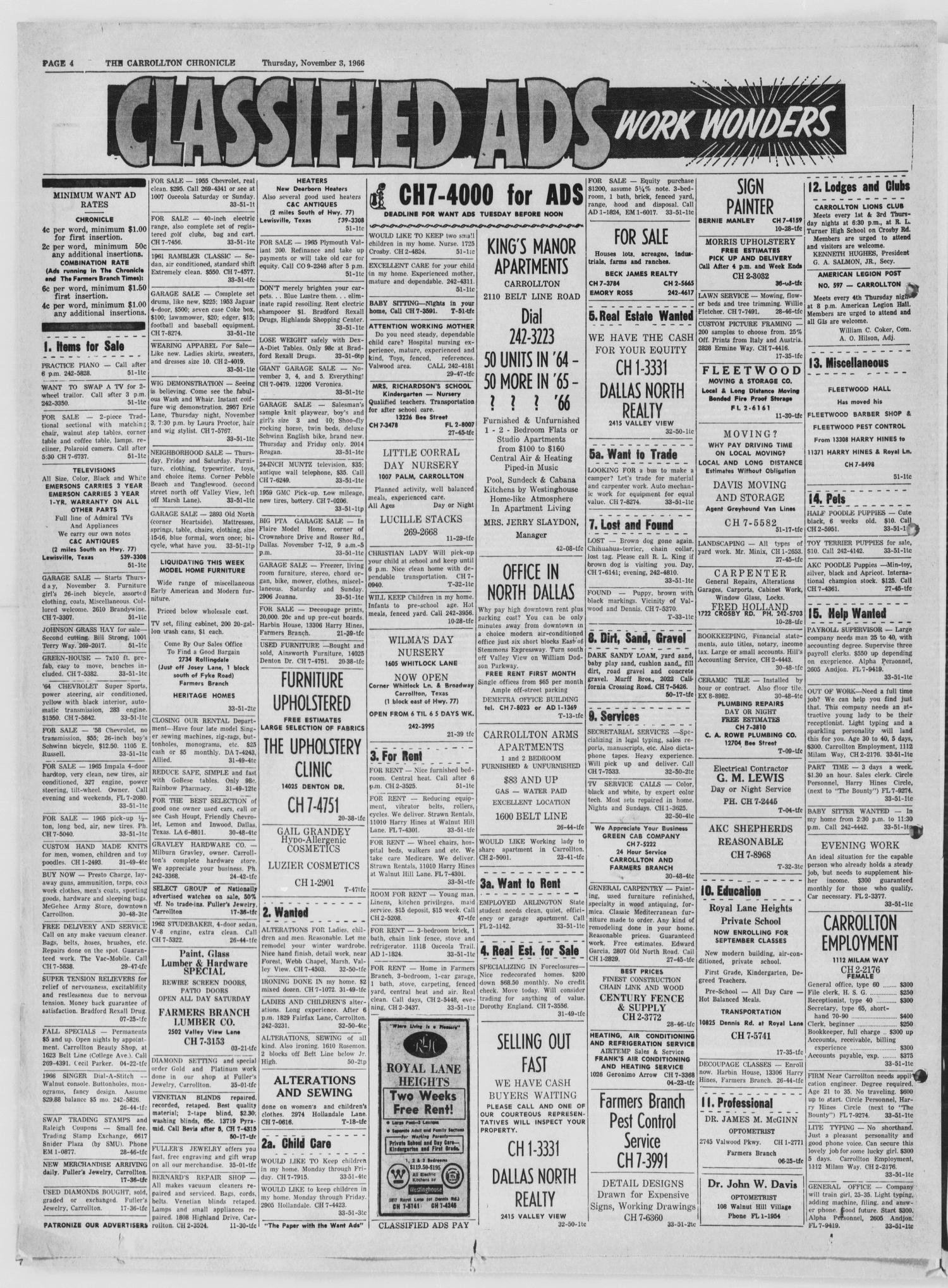 The Carrollton Chronicle Carrollton Tex Vol 62 No 51 Ed 1