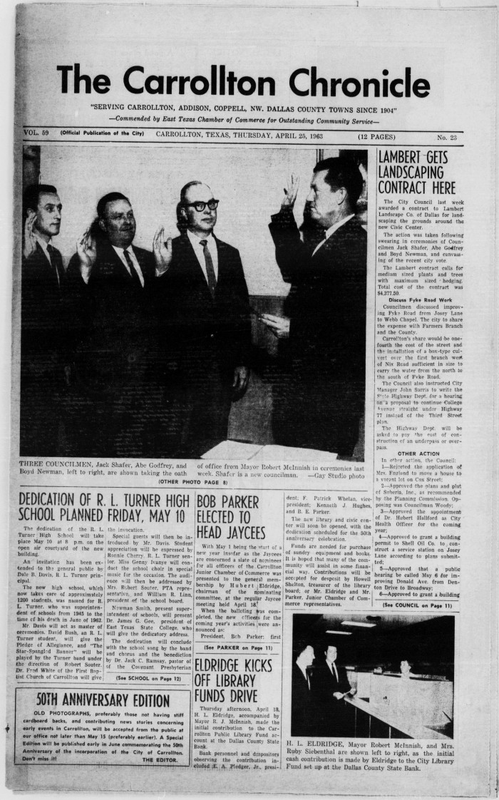 The Carrollton Chronicle (Carrollton, Tex ), Vol  59, No  23