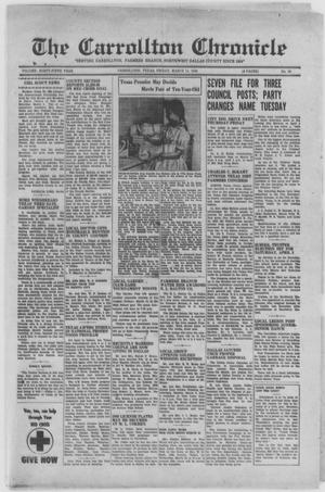 Primary view of object titled 'The Carrollton Chronicle (Carrollton, Tex.), Vol. FORTY-FIFTH YEAR, No. 18, Ed. 1 Friday, March 11, 1949'.