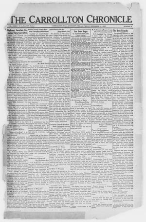 Primary view of object titled 'The Carrollton Chronicle (Carrollton, Tex.), Vol. 34, No. 8, Ed. 1 Friday, December 31, 1937'.