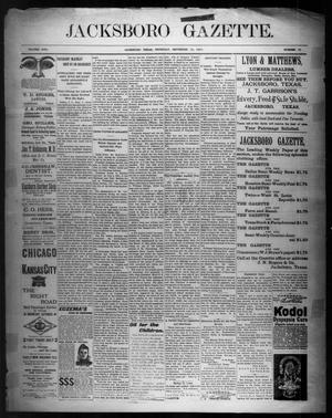 Primary view of object titled 'Jacksboro Gazette. (Jacksboro, Tex.), Vol. 22, No. 15, Ed. 1 Thursday, September 12, 1901'.