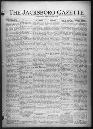 Primary view of object titled 'The Jacksboro Gazette (Jacksboro, Tex.), Vol. 43, No. 20, Ed. 1 Thursday, October 12, 1922'.
