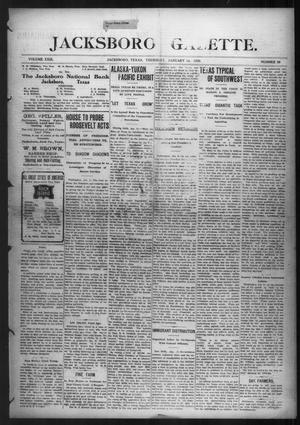 Primary view of object titled 'Jacksboro Gazette. (Jacksboro, Tex.), Vol. 29, No. 33, Ed. 1 Thursday, January 14, 1909'.
