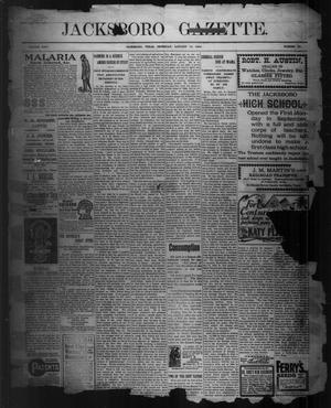 Primary view of Jacksboro Gazette. (Jacksboro, Tex.), Vol. 24, No. 33, Ed. 1 Thursday, January 14, 1904