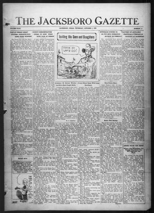 Primary view of object titled 'The Jacksboro Gazette (Jacksboro, Tex.), Vol. 43, No. 19, Ed. 1 Thursday, October 5, 1922'.