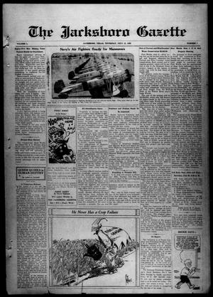 Primary view of object titled 'The Jacksboro Gazette (Jacksboro, Tex.), Vol. 50, No. 7, Ed. 1 Thursday, July 18, 1929'.