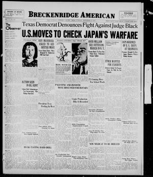 Primary view of object titled 'Breckenridge American (Breckenridge, Tex.), Vol. 17, No. 224, Ed. 1, Tuesday, September 21, 1937'.