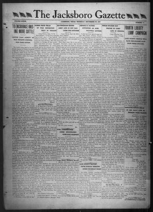 Primary view of object titled 'The Jacksboro Gazette (Jacksboro, Tex.), Vol. 39, No. 17, Ed. 1 Thursday, September 26, 1918'.
