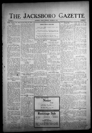 Primary view of object titled 'The Jacksboro Gazette (Jacksboro, Tex.), Vol. 65, No. 22, Ed. 1 Thursday, October 26, 1944'.
