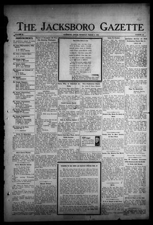 Primary view of object titled 'The Jacksboro Gazette (Jacksboro, Tex.), Vol. 64, No. 40, Ed. 1 Thursday, March 2, 1944'.