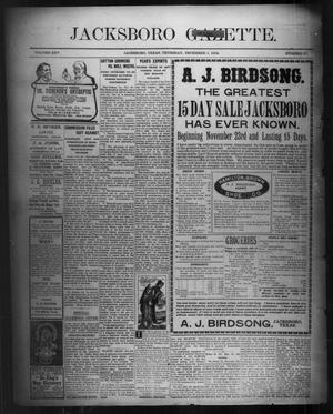 Primary view of object titled 'Jacksboro Gazette. (Jacksboro, Tex.), Vol. 25, No. 27, Ed. 1 Thursday, December 1, 1904'.