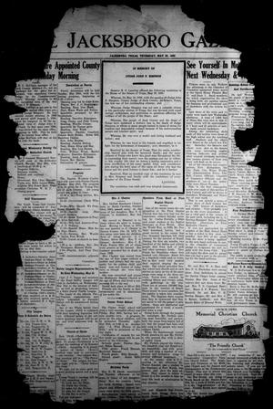 Primary view of object titled 'The Jacksboro Gazette (Jacksboro, Tex.), Vol. 59, No. 51, Ed. 1 Thursday, May 25, 1939'.