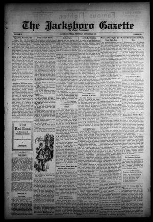 Primary view of object titled 'The Jacksboro Gazette (Jacksboro, Tex.), Vol. 51, No. 21, Ed. 1 Thursday, October 23, 1930'.
