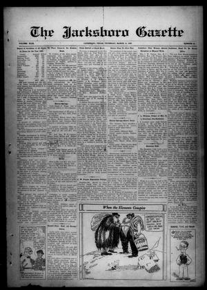 Primary view of object titled 'The Jacksboro Gazette (Jacksboro, Tex.), Vol. 49, No. 41, Ed. 1 Thursday, March 14, 1929'.