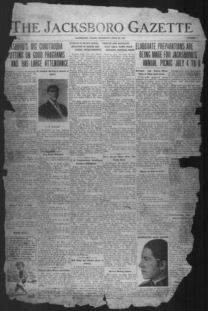 Primary view of object titled 'The Jacksboro Gazette (Jacksboro, Tex.), Vol. 42, No. 4, Ed. 1 Thursday, June 23, 1921'.