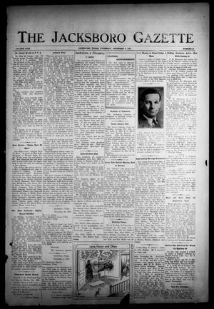 Primary view of object titled 'The Jacksboro Gazette (Jacksboro, Tex.), Vol. 58, No. 28, Ed. 1 Thursday, December 9, 1937'.