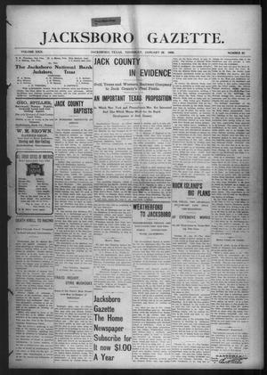 Primary view of object titled 'Jacksboro Gazette. (Jacksboro, Tex.), Vol. 29, No. 35, Ed. 1 Thursday, January 28, 1909'.