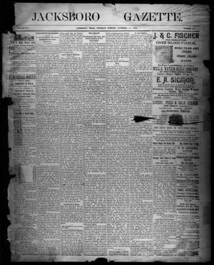 Primary view of object titled 'Jacksboro Gazette. (Jacksboro, Tex.), Vol. 14, No. 21, Ed. 1 Thursday, November 16, 1893'.