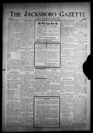 Primary view of object titled 'The Jacksboro Gazette (Jacksboro, Tex.), Vol. 65, No. 26, Ed. 1 Thursday, November 23, 1944'.