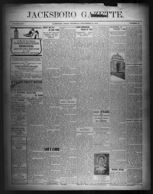 Primary view of object titled 'Jacksboro Gazette. (Jacksboro, Tex.), Vol. 25, No. 16, Ed. 1 Thursday, September 15, 1904'.