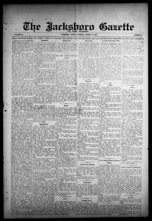 Primary view of object titled 'The Jacksboro Gazette (Jacksboro, Tex.), Vol. 51, No. 41, Ed. 1 Thursday, March 12, 1931'.