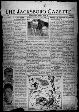 Primary view of object titled 'The Jacksboro Gazette (Jacksboro, Tex.), Vol. 44, No. 52, Ed. 1 Thursday, May 29, 1924'.