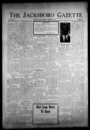 Primary view of object titled 'The Jacksboro Gazette (Jacksboro, Tex.), Vol. 65, No. 35, Ed. 1 Thursday, February 1, 1945'.