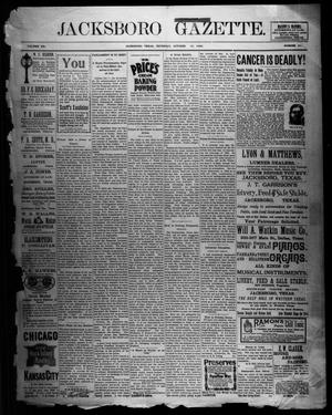 Primary view of object titled 'Jacksboro Gazette. (Jacksboro, Tex.), Vol. 20, No. 20, Ed. 1 Thursday, October 12, 1899'.
