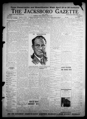 Primary view of object titled 'The Jacksboro Gazette and News (Jacksboro, Tex.), Vol. 66, No. 45, Ed. 1 Thursday, April 18, 1946'.
