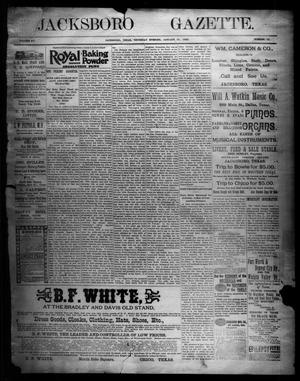 Primary view of object titled 'Jacksboro Gazette. (Jacksboro, Tex.), Vol. 15, No. 35, Ed. 1 Thursday, January 31, 1895'.