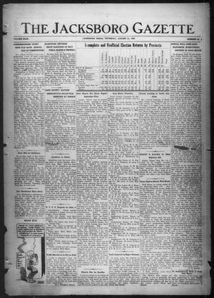 Primary view of object titled 'The Jacksboro Gazette (Jacksboro, Tex.), Vol. 43, No. 14, Ed. 1 Thursday, August 31, 1922'.