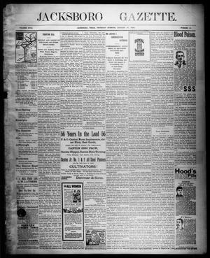 Primary view of object titled 'Jacksboro Gazette. (Jacksboro, Tex.), Vol. 18, No. 35, Ed. 1 Thursday, January 27, 1898'.