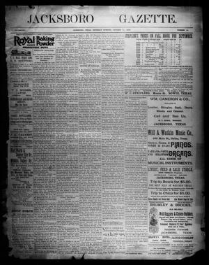 Primary view of object titled 'Jacksboro Gazette. (Jacksboro, Tex.), Vol. 15, No. 19, Ed. 1 Thursday, October 11, 1894'.