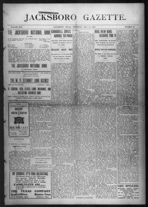 Primary view of object titled 'Jacksboro Gazette. (Jacksboro, Tex.), Vol. 30, No. 50, Ed. 1 Thursday, May 12, 1910'.
