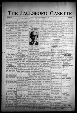 Primary view of object titled 'The Jacksboro Gazette (Jacksboro, Tex.), Vol. 56, No. 35, Ed. 1 Thursday, January 30, 1936'.