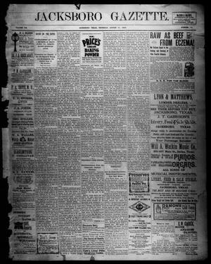 Primary view of object titled 'Jacksboro Gazette. (Jacksboro, Tex.), Vol. 20, No. 14, Ed. 1 Thursday, August 31, 1899'.