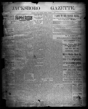 Primary view of object titled 'Jacksboro Gazette. (Jacksboro, Tex.), Vol. 15, No. 27, Ed. 1 Thursday, December 6, 1894'.