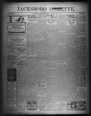Primary view of object titled 'Jacksboro Gazette. (Jacksboro, Tex.), Vol. 25, No. 12, Ed. 1 Thursday, August 18, 1904'.