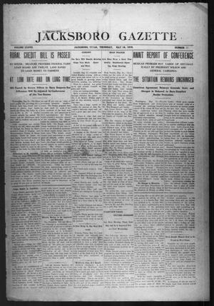 Primary view of object titled 'Jacksboro Gazette (Jacksboro, Tex.), Vol. 37, No. 51, Ed. 1 Thursday, May 18, 1916'.
