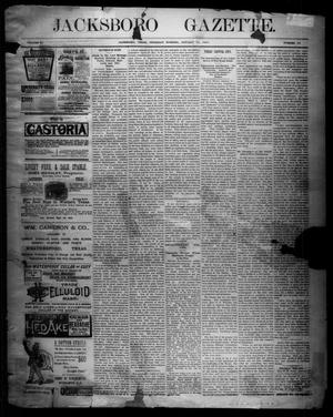 Primary view of object titled 'Jacksboro Gazette. (Jacksboro, Tex.), Vol. 11, No. 30, Ed. 1 Thursday, January 22, 1891'.