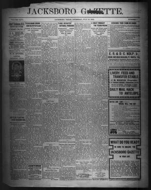Primary view of object titled 'Jacksboro Gazette. (Jacksboro, Tex.), Vol. 26, No. 7, Ed. 1 Thursday, July 13, 1905'.