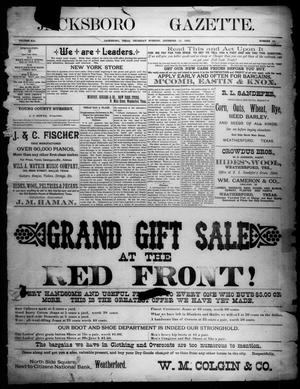 Primary view of object titled 'Jacksboro Gazette. (Jacksboro, Tex.), Vol. 13, No. 25, Ed. 1 Thursday, December 15, 1892'.