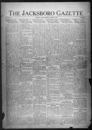 Primary view of object titled 'The Jacksboro Gazette (Jacksboro, Tex.), Vol. 43, No. 21, Ed. 1 Thursday, October 19, 1922'.