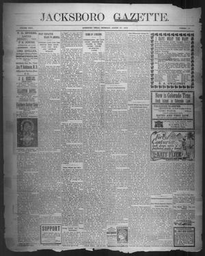 Primary view of object titled 'Jacksboro Gazette. (Jacksboro, Tex.), Vol. 24, No. 13, Ed. 1 Thursday, August 27, 1903'.