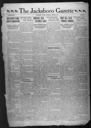 Primary view of object titled 'The Jacksboro Gazette (Jacksboro, Tex.), Vol. 39, No. 10, Ed. 1 Thursday, August 8, 1918'.