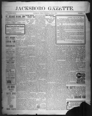 Primary view of object titled 'Jacksboro Gazette. (Jacksboro, Tex.), Vol. 28, No. 5, Ed. 1 Thursday, July 4, 1907'.