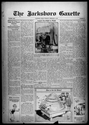 Primary view of object titled 'The Jacksboro Gazette (Jacksboro, Tex.), Vol. 49, No. 38, Ed. 1 Thursday, February 21, 1929'.