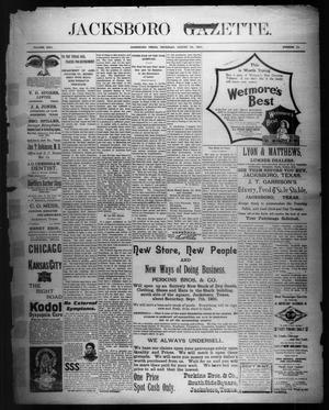 Primary view of object titled 'Jacksboro Gazette. (Jacksboro, Tex.), Vol. 22, No. 12, Ed. 1 Thursday, August 22, 1901'.